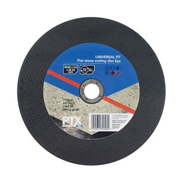 PTX (Dia)230mm Flat Stone Cutting Disc, Pack of 5
