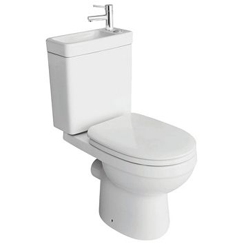 Cooke & Lewis Duetto Close-Coupled Toilet with Integrated Basin with Soft Close Seat