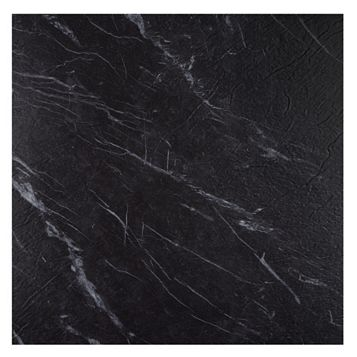 Colours Black Marble Effect Self Adhesive Vinyl Tile Pack 1.02m²