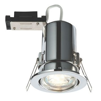 Lap Fire Rated Chrome Effect Downlight 2.5 W