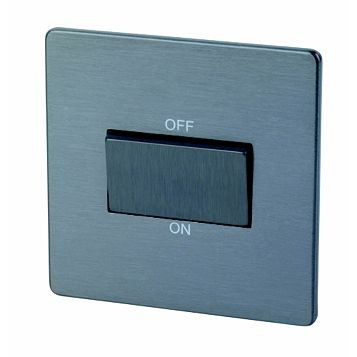 Lap 1-Gang 10A Slate Effect Fan Isolator Switch