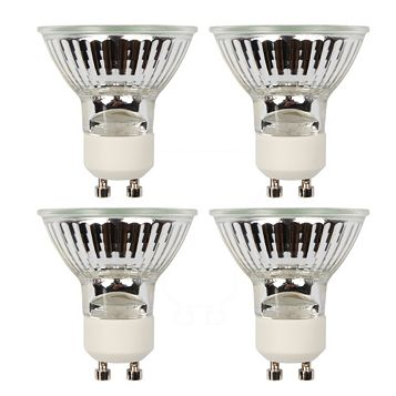 Diall GU10 40W Halogen Reflector Spot Light Bulb, Pack of 4