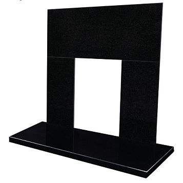 Blyss Black Granite Back Panel & Hearth Set