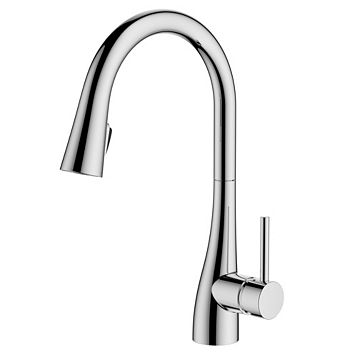 Cooke & Lewis Clyro Chrome Effect Concealed Pull Down Lever Tap