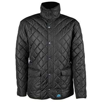 Rigour Seattle Black Quilted Jacket Large