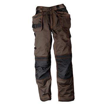 Rigour Tradesman Brown & Black Trousers (Waist)36
