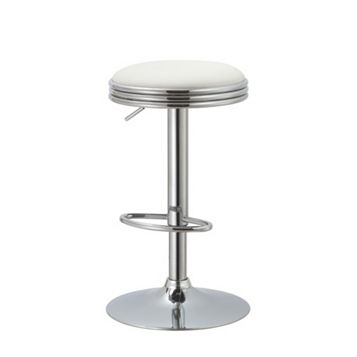 Medlar White Bar Stool (H)820 mm (W)400 mm