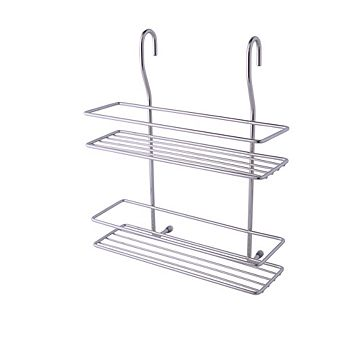 Cooke & Lewis Chrome Effect Two Tier Spice Rack