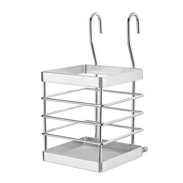 Cooke & Lewis Chrome Effect Utensil Holder