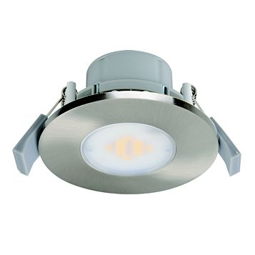 Diall Brushed Nickel Effect Downlight 7.5 W, Pack of 3