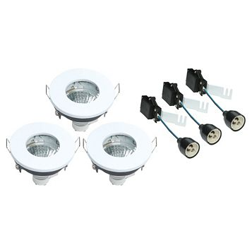 Diall White Gloss Downlight 4.8 W, Pack of 3