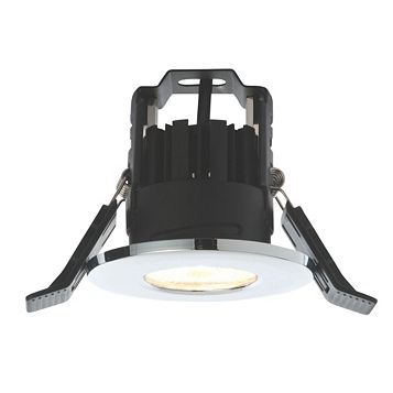 Lap Fire Rated Chrome Effect Bathroom Downlight 4.5 W