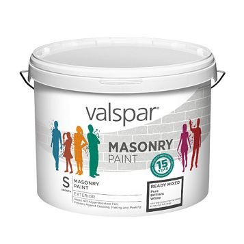 Valspar Pure Brilliant White Masonry Paint 10L