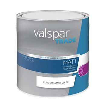 Valspar Matt Emulsion Paint White, 2.5L