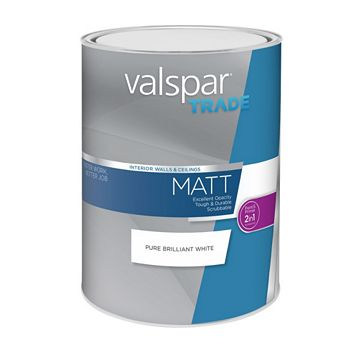 Valspar Matt Emulsion Paint White, 5L