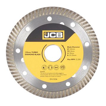 JCB Turbo (Dia)125mm Turbo Rim Diamond Blade