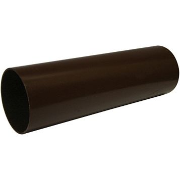 Floplast Round Gutter Downpipe (Dia)68mm (L)2.5m, Brown