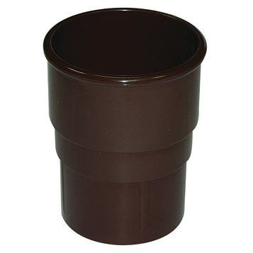 Floplast Round Gutter Downpipe Socket (Dia)68mm, Brown