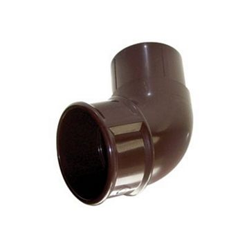 Floplast Round 112.5 ° Gutter Downpipe Offset Bend (Dia)68 mm, Brown