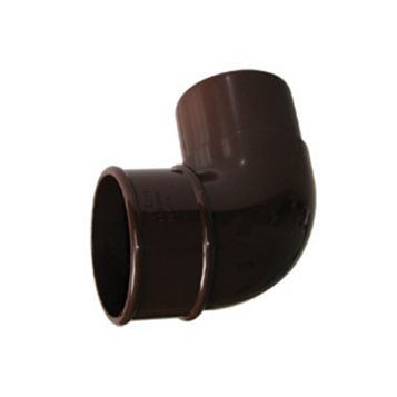 Floplast Round 92.5 ° Gutter Downpipe Offset Bend (Dia)68 mm, Brown