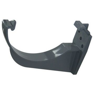 Floplast Half Round Gutter Fascia Bracket (Dia)112 mm, Grey, Pack of 1