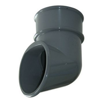 Floplast Round Gutter Downpipe Shoe (Dia)68mm, Grey