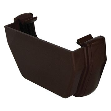 Floplast Square Gutter Stop End (W)114 mm, Brown