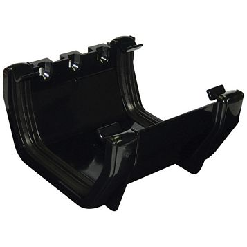 Floplast Square Gutter Union Bracket (W)114 mm, Black