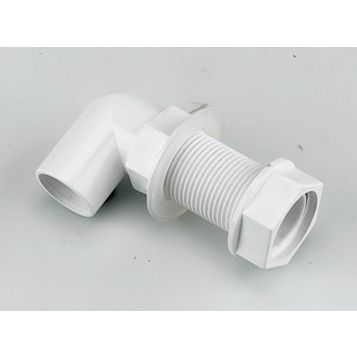 Floplast Bent Tank Connector (Dia)21.5 mm, Pack of 5