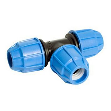 Floplast Compression Equal Tee (Dia)25 mm