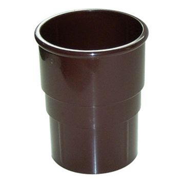 Floplast Miniflo Gutter Downpipe Socket (Dia)50mm (L)59mm, Brown