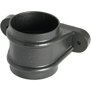 Floplast Round Gutter Downpipe Socket (Dia)68mm (L)76mm, Cast Iron Effect