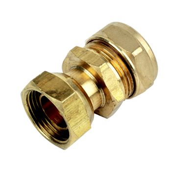 Plumbsure Compression Straight Tap Connector (Dia)22 mm x ¾ In