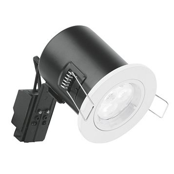 Aurora Fire Rated White Gloss Downlight 4.5 W