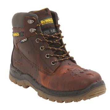 DeWalt Titanium Tan Full Grain Leather Steel Toe Cap Boots, Size 11