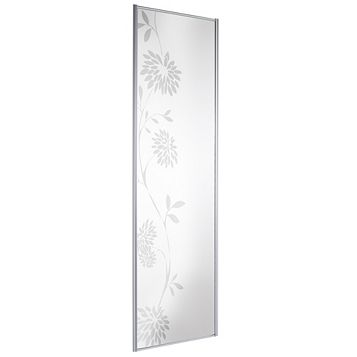 Full Length Mirror Sliding Wardrobe Door (H)2220 mm (W)610 mm