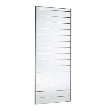 Louvre Mirror Effect Sliding Wardrobe Door (H)2220 mm (W)762 mm