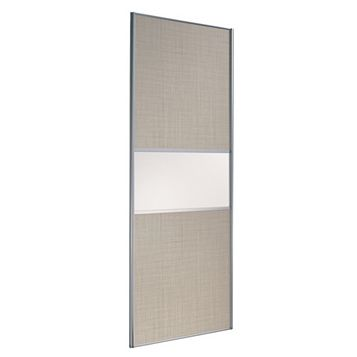 Fineline Linen & White Sliding Wardrobe Door (H)2220 mm (W)914 mm
