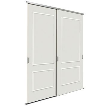 Paintable White Sliding Wardrobe Door Kit (H)2.22 M (W)914 mm, Pack of 2