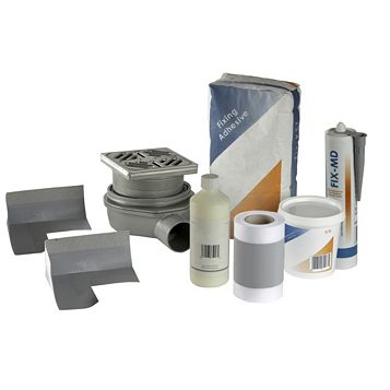 Aquadry Wet Room Waste & Waterproofing Kit