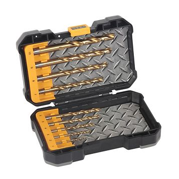JCB HSS Tin Mixed Drill Bit Set, 10 Pieces
