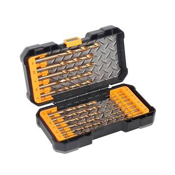 JCB HSS Tin Mixed Drill Bit Set, 19 Pieces