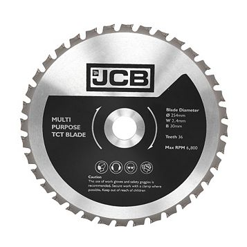 JCB 36T TCT Blade (Dia)254mm Of 1