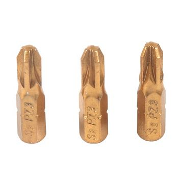 JCB S2 Steel PZ3 Screwdriver Bit 25mm Pack of 3