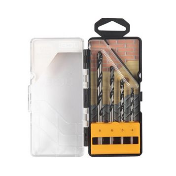 JCB Mixed Multi Purpose Drill Bit Set, 4 Pieces