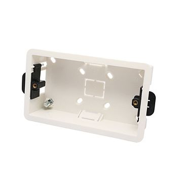 Smj White Plastic Double Dry Lining Box 35.5 mm
