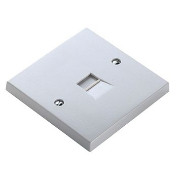 Pro Power 1-Gang Flat Plate Telephone Socket