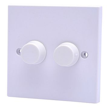 Pro Power 13A 1-Way Double White Dimmer Switch