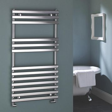Kudox Towel Warmer Silver Chrome (H)900 (W)450mm