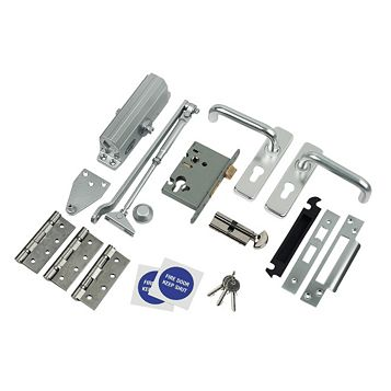 Anodised Aluminium Lever Lock Set